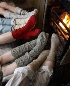 socks by the fire