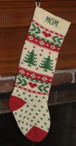 Knit Christmas Stocking for Mom