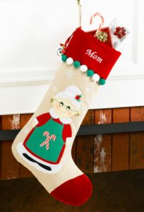 Mrs. Claus on Christmas Stocking