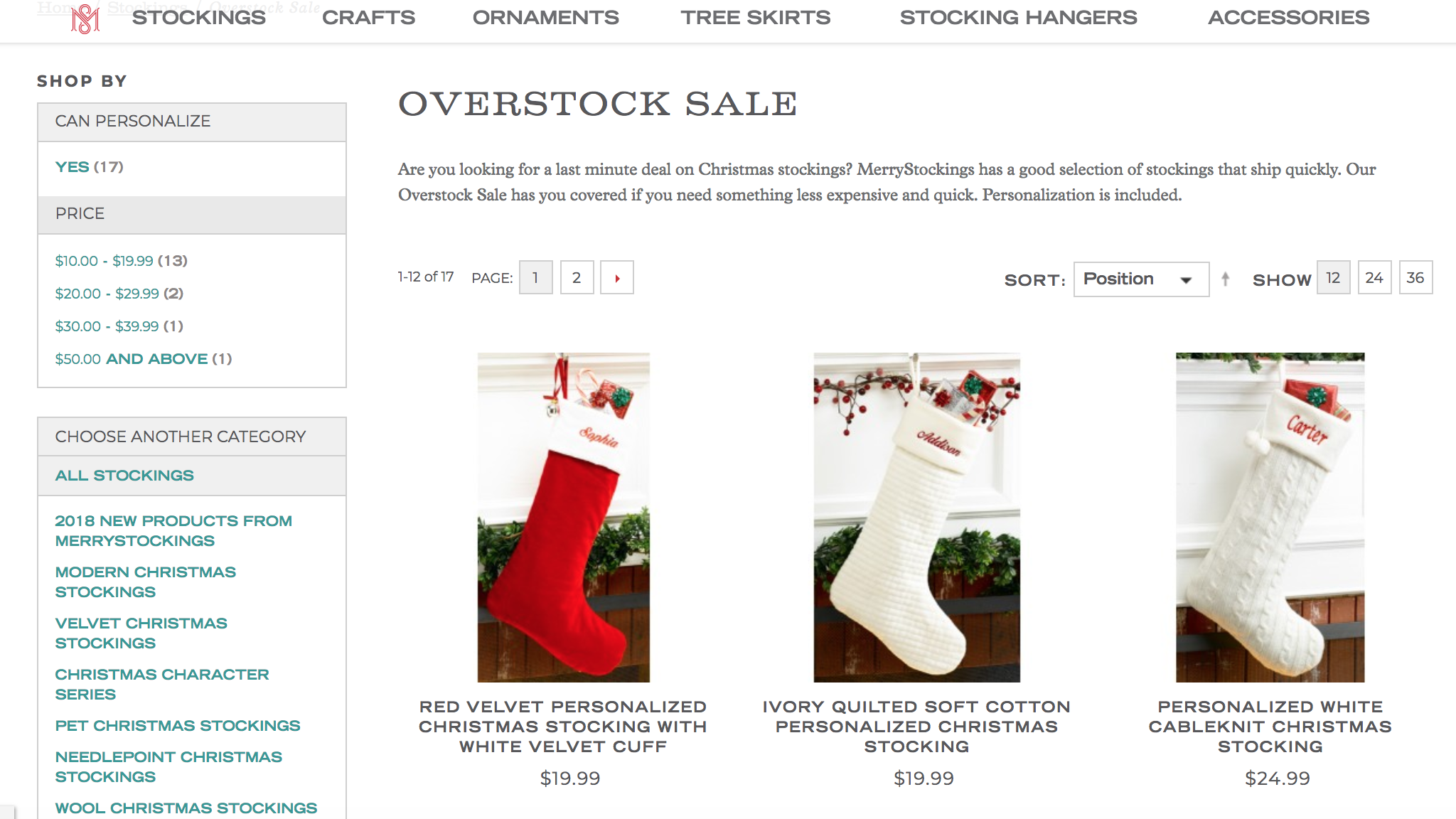 Personalized Christmas Stockings / Personalized Christmas Stockings