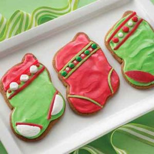 Gingerbread Stocking Cookies
